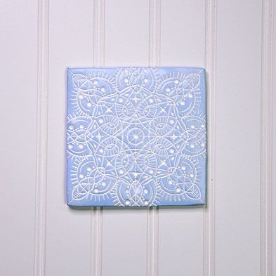 Periwinkle Mandela Wall Tile with White Detail