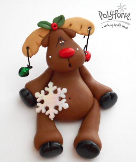 Sculpey® III Sitting Reindeer with Jingle Bells