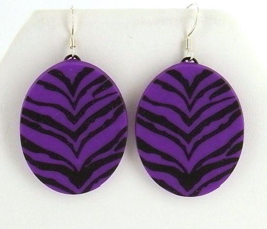 Sculpey® III Wild Zebra Earrings