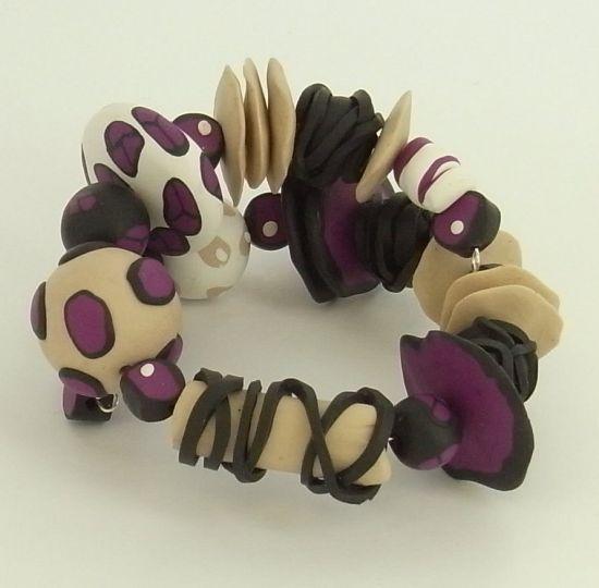 Sculpey Soufflé Abstract Wrap Cane Bracelet