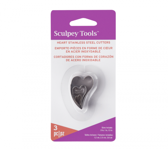 Sculpey Tools™ Cutters: Heart, 3 pc