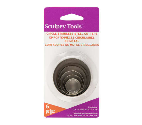 Sculpey Tools™ Graduated Cutters: Circle, 6 pc