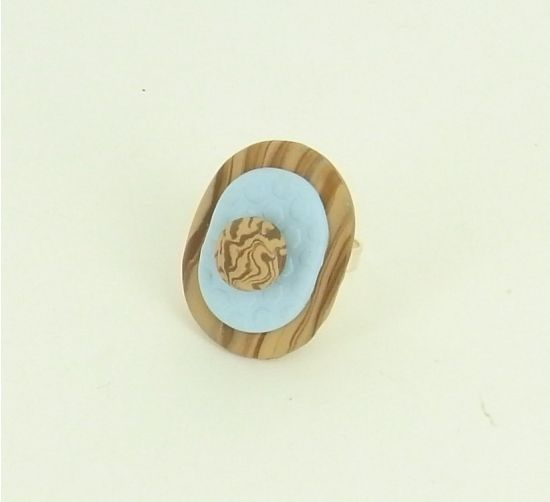 Sculpey® III Oval Layered Ring