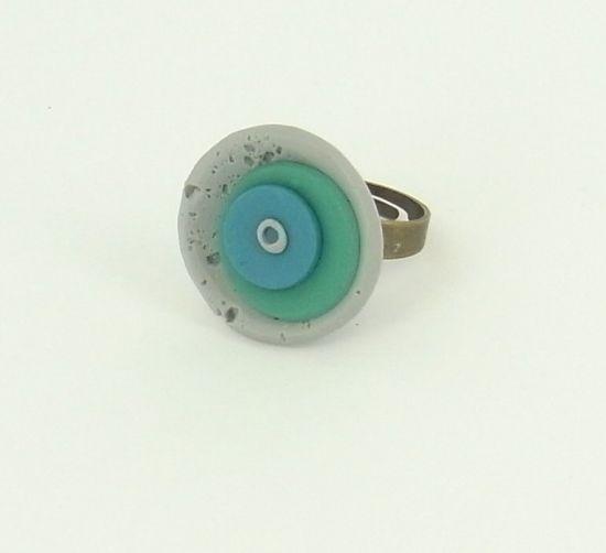 Sculpey Soufflé Layered Circles Ring