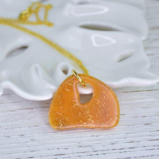 Sculpey Premo™ Sculpey Amber & Gold Leaf Pendant