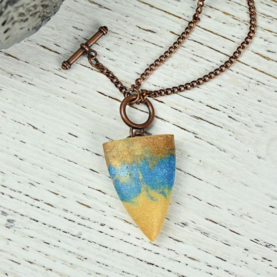 Liquid Sculpey® and Wire Bullet Pendant