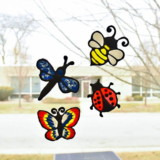 Liquid Sculpey® Colorful and Friendly Bug Window Clings