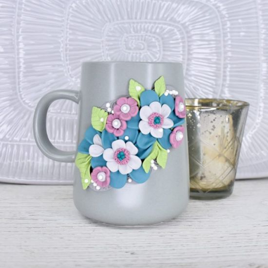 Sculpey Soufflé™ and Lace Garden Mug