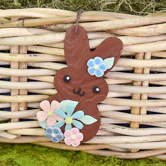 Sculpey III® and Liquid Sculpey® Bunny Basket Tag