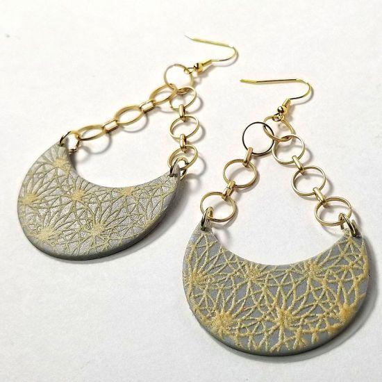 Liquid Sculpey® Dimensional Silkscreened Earrings