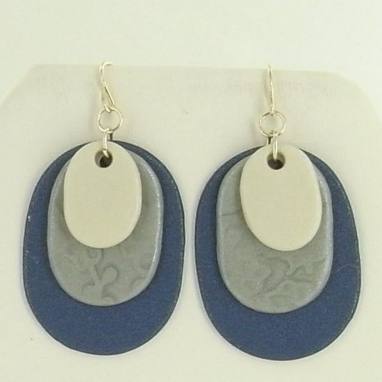 Sculpey® III Oval Layered Earrings