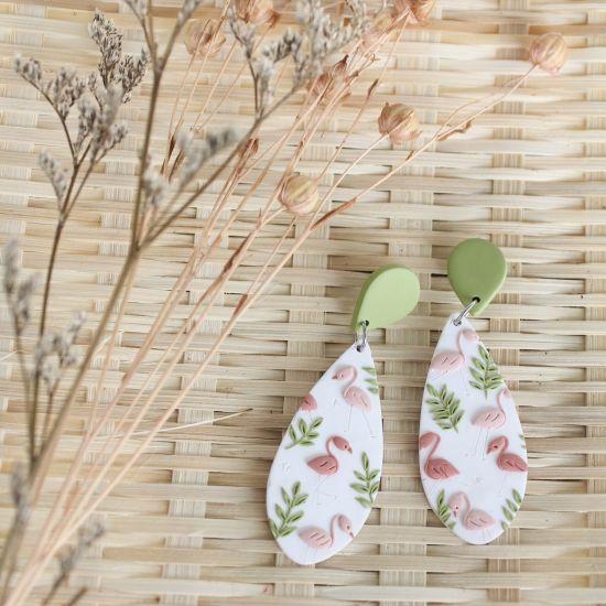 Flamingo & Fern Earrings