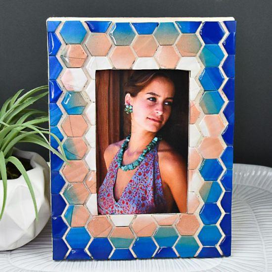 Premo Sculpey® and Liquid Sculpey® Greige Granite Mosaic Tiles Frame