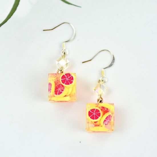Liquid Sculpey®  and Sculpey Premo™ Grapefruit Ice Earrings