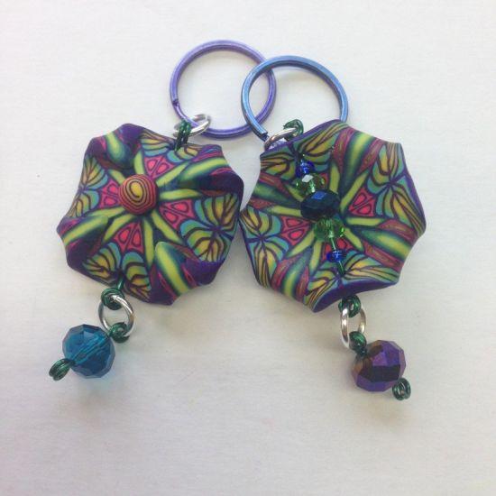 premo Sculpey Kaleidoscope Key Fob