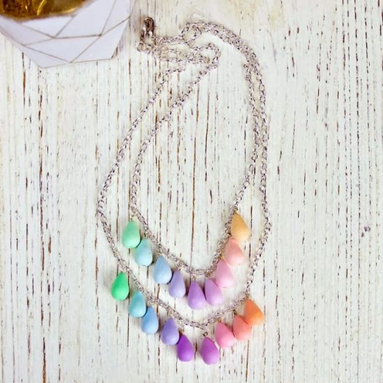 Sculpey Premo Pastel Color Spectrum Necklace