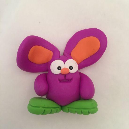 Sculpey III Purple Bunny