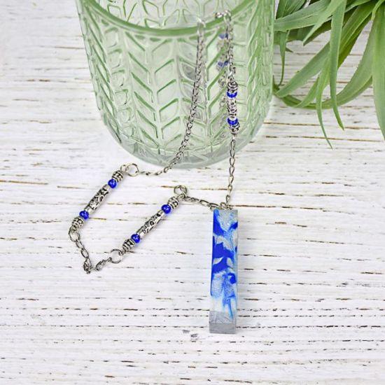 Liquid Sculpey® Splash of Blue Molded Pendant