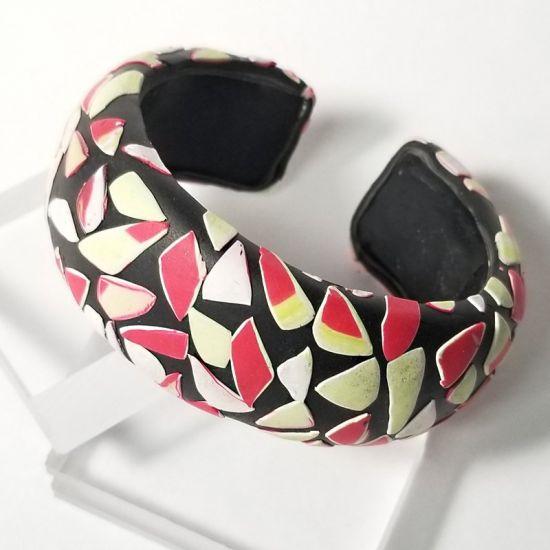 Sculpey Souffle™ Terrazzo-style Cuff Bracelet Created From Scraps