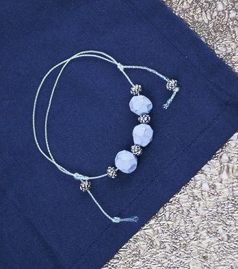Periwinkle Carved Slide Bracelet