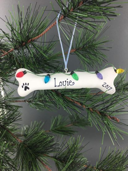 Sculpey III® Personalized Dog Bone Tree Ornament