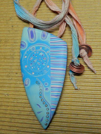 Sculpey Soufflé Mokume Gane Pendant Necklace