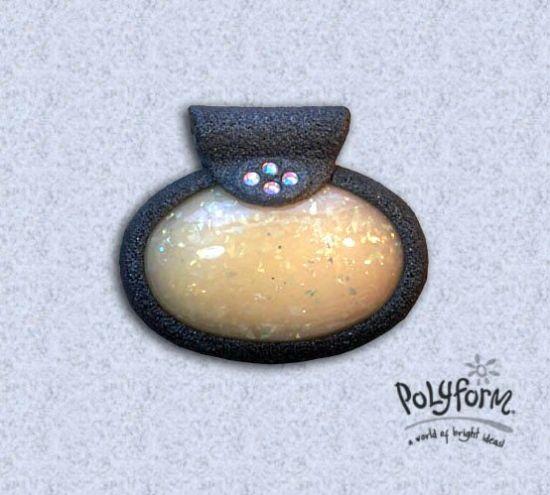 Premo! Opal Clay Hollow Dome Pendant