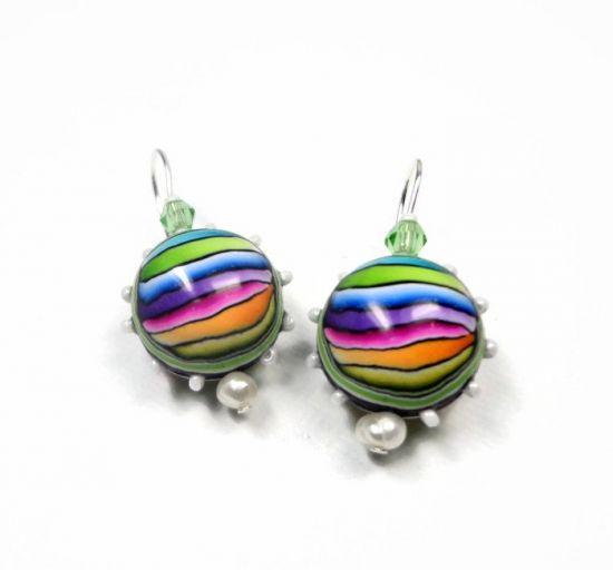 premo! Rainbow Ball Earrings