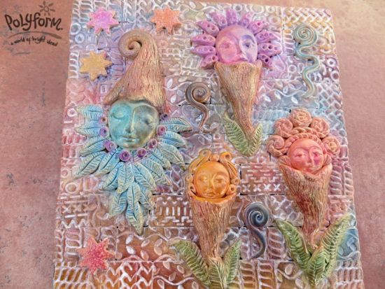 premo! Fairy Flower Garden Stepping Stone