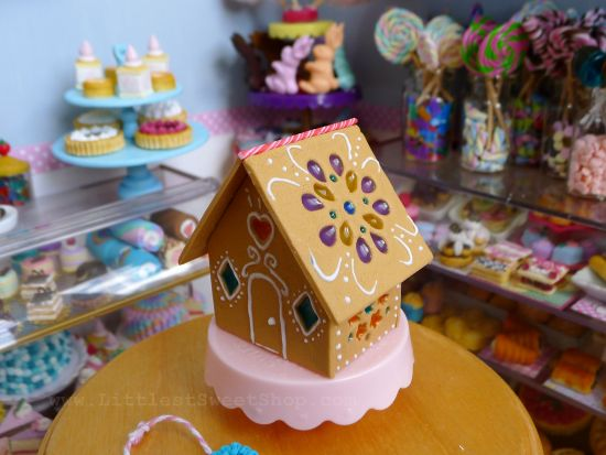 Liquid Sculpey Candy Stained Glass Miniature Gingerbread House