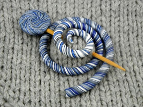 Premo Spiral Shawl Pin and Stick