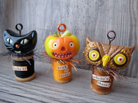 Sculpey Premo™ Halloween Place Card Holder Trio