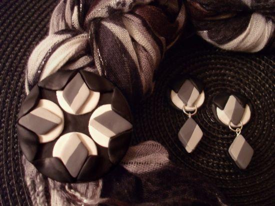 premo! Winter's Beauty Fabric Scarf Pin