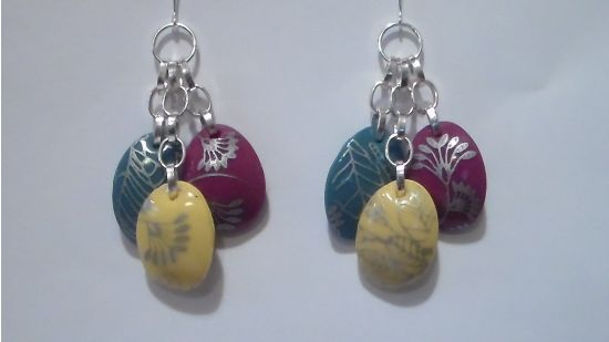 Sculpey Souffle Leaves of Glass Earrings