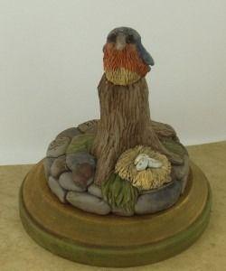 Super Sculpey® Blue Bird on a Perch