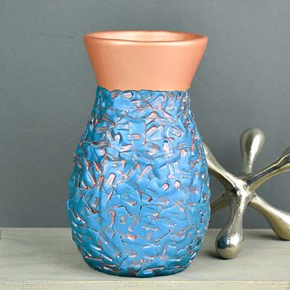 Sculpey Premo™ Faux Hammered Copper Vase