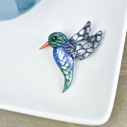 Sculpey Premo™ Hummingbird Pin