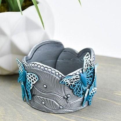 Liquid Sculpey® and Premo Sculpey® Butterfly Landing Cuff