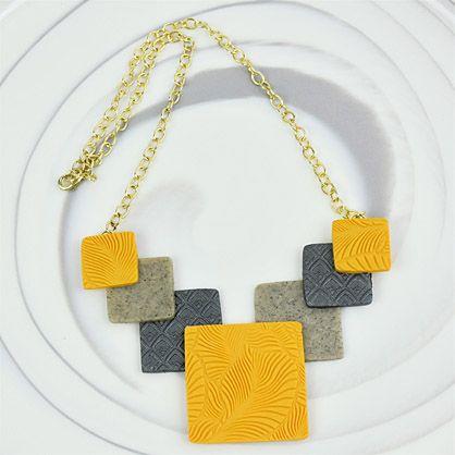 Sculpey Premo™ Geometric Statement Necklace
