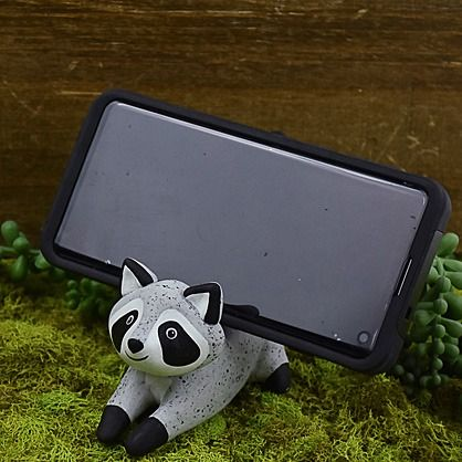 Original Sculpey® Granite Raccoon Cell Phone Holder