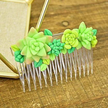 Sculpey Air-Dry™ Porcelain Faux Succulent Hair Comb