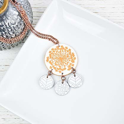 Sculpey Soufflé™ Silkscreened Tiered Necklace