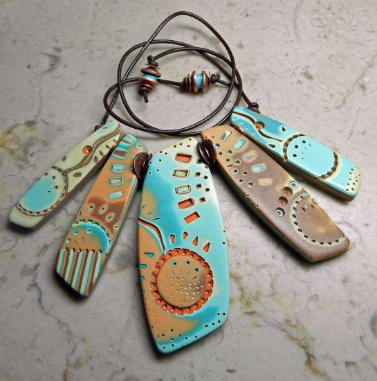 Sculpey Soufflé Mohave Stick Necklace