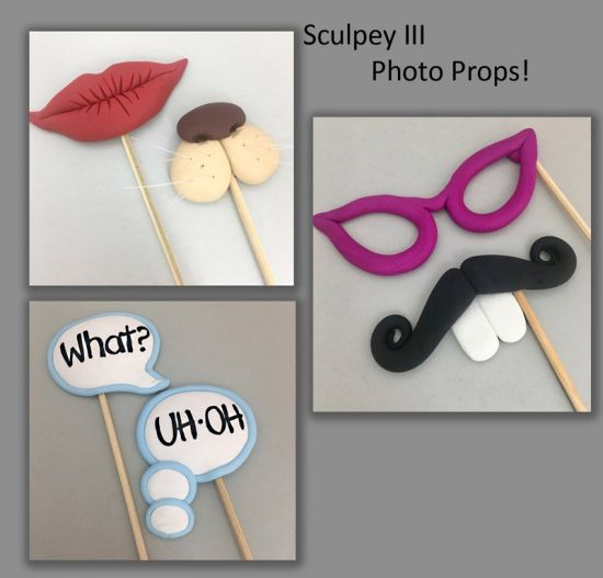 Sculpey III Photo Booth Props