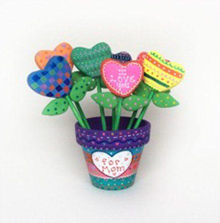 Bake Shop Light™ Heart-Filled Flower Pot for Mom