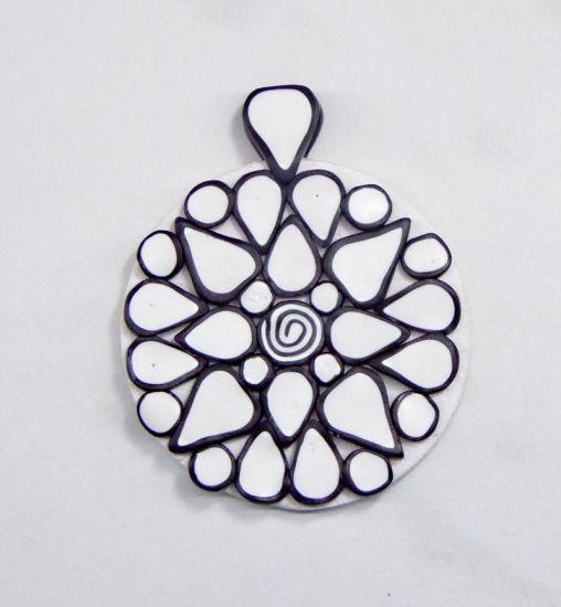 Premo Simple Cane Mandala Pendant
