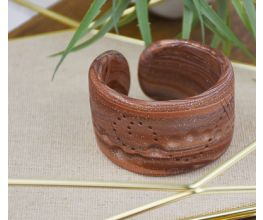 Brown Textured Cuff Bracelet