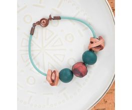 Sculpey Premo™ Forest Green Textured Bead Bracelet