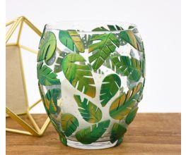 Sculpey Premo™ Forest Green and Gold Leaf Embellished Vase