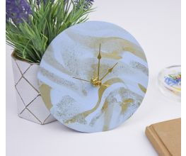 Pale Blue Marbled Clock